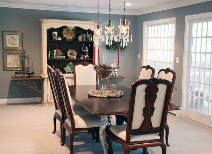 A Lovely Dining Room By Nancy Gilbert Touch Of Staging